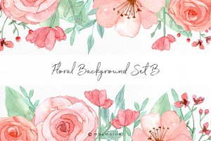 Floral graphic backgrounds setB