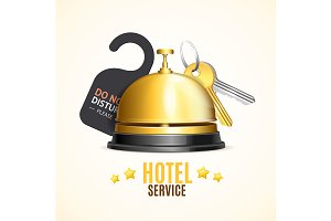 Hotel Reception Service Banner