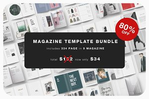 Magazine Template Bundle - 80% OFF