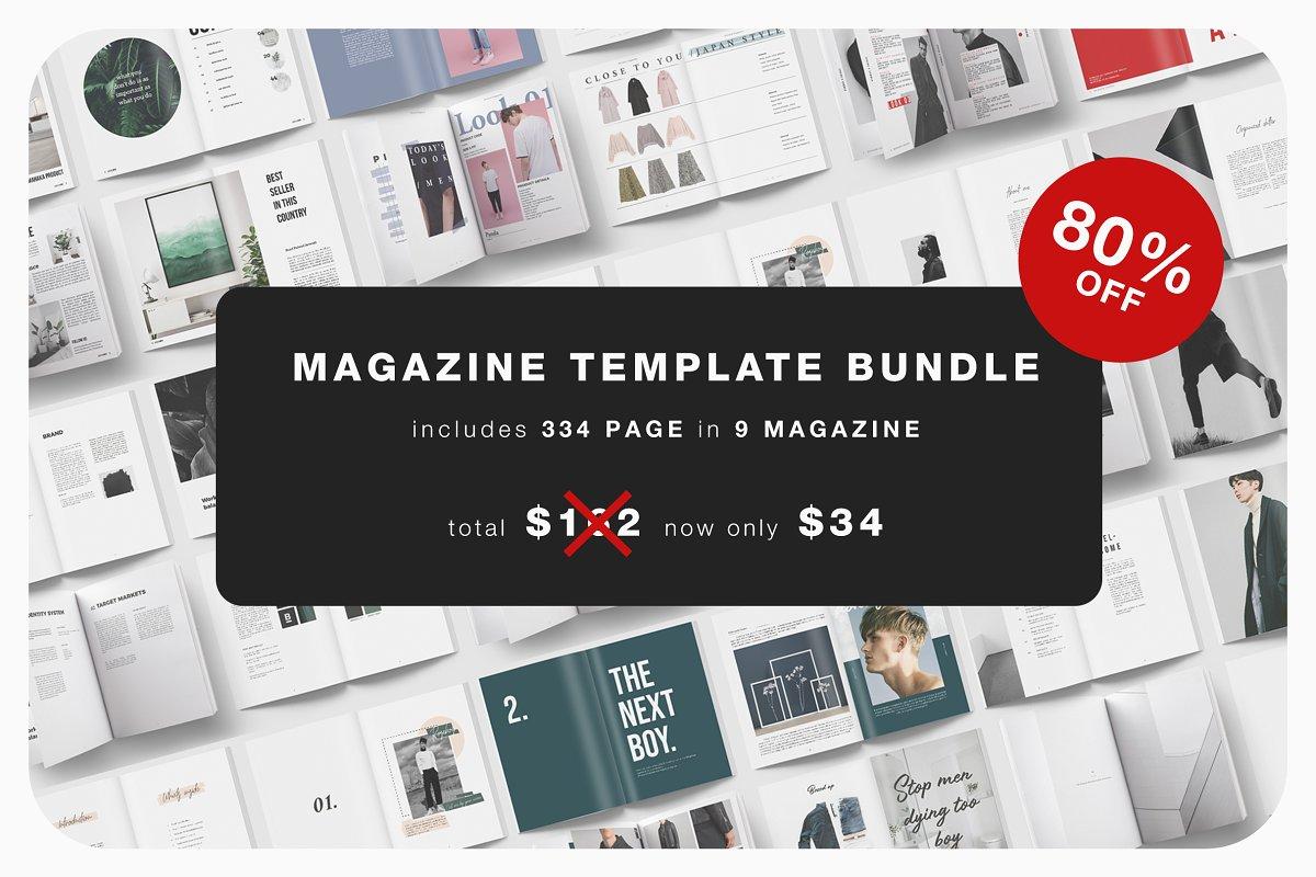 Magazine Template Bundle - 80% OFF ~ Magazine Templates ~ Creative