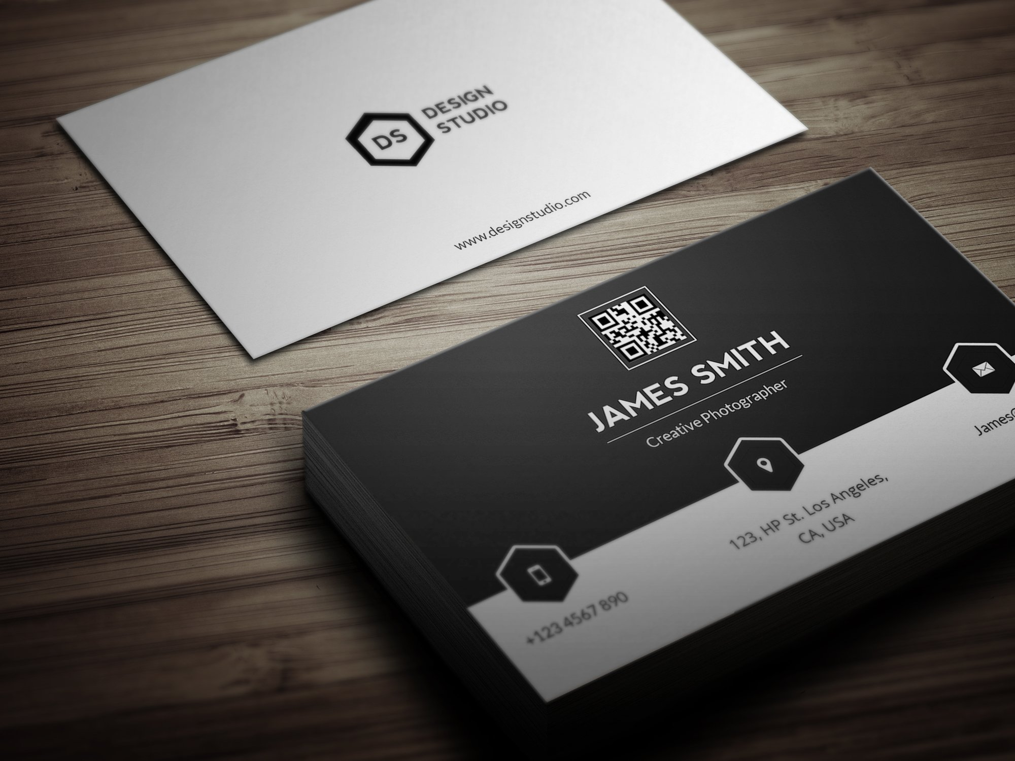 Black white minimal business card business card templates black white minimal business card business card templates creative market reheart Choice Image