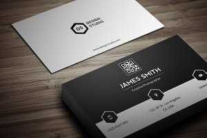 Black & White Minimal Business Card