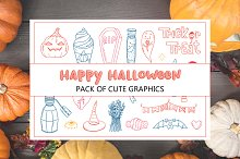 Pack of cute halloween graphics.
