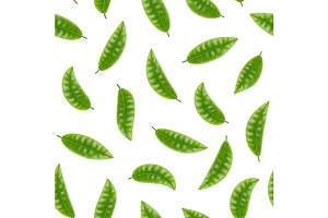 Elements Set of Tea Seamless Pattern