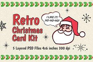 Retro Christmas Card Kit