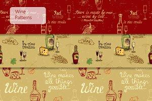 Seamless wine patterns