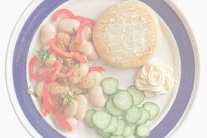 Vegetarian dish, soft faded tone bac