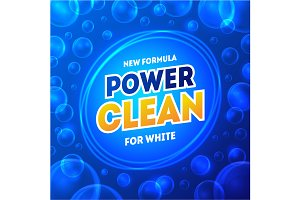 Laundry Detergent Package Card