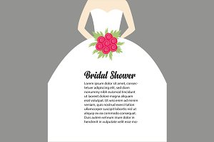 Editable eps Wedding Illustration
