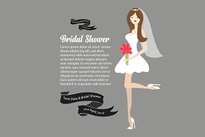 Bridal Shower Illustration Eps