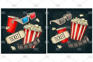 Popcorn Cola 3D glasses for cinema