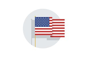 Vector USA flag icon