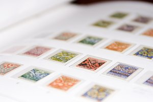Dutch postage stamps in album