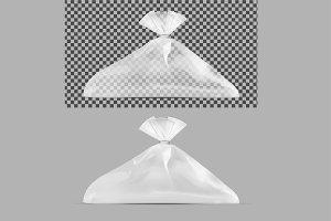 Transparent plastic bag.