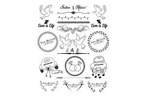 Wedding Ornaments Illustration set