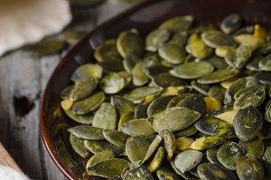 Pumpkin seeds photography