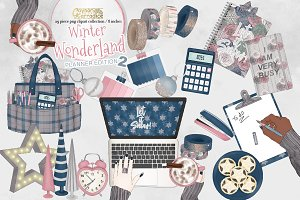 Winter Wonderland planner clipart 2