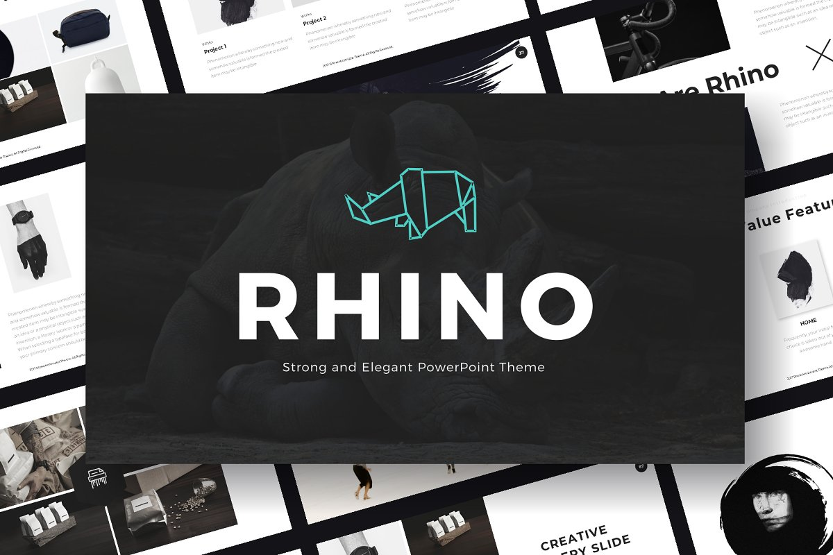 Rhino - Powerpoint Template ~ PowerPoint Templates