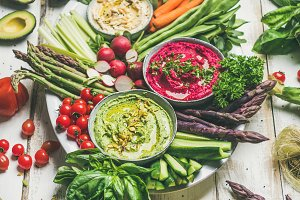 Chickpea, beetroot, spinach hummus