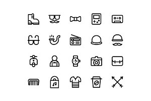 Hipster Line Icons