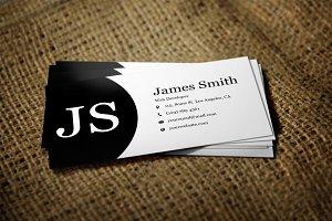 Black & White Minimal Business Card2