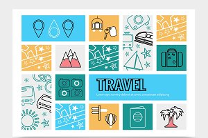 Travel infographic template