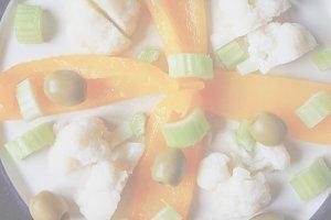 Vegetarian food, soft faded tone bac