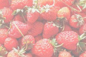 Strawberry fruit, soft faded tone ba