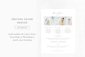 Boudoir Pricing Guide Template