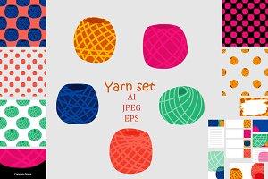 Yarn set in flat style