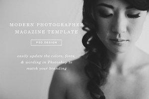 Magazine Template Photoshop Design