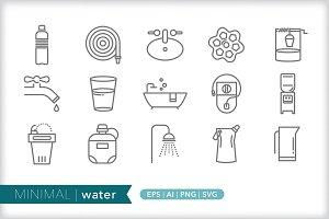 MInimal water icons