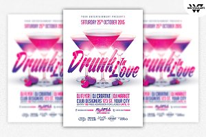 DRINK LOVE Flyer Template