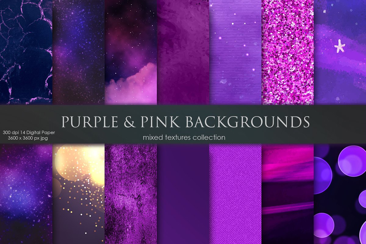 Purple And Pink Galaxy Background Textures Creative Market