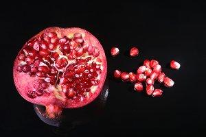 Pomegranate seeds and Beautiful ripe