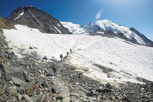Mountains panorama Mont Blanc