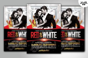 RED & WHITE Flyer Template