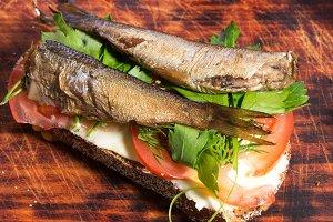 Sandwich close-up. Sandwich.