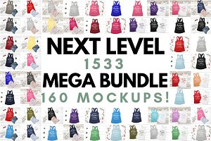 Next Level 1533 Tank Mockup Bundle