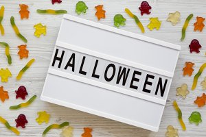 'Halloween' word on modern board