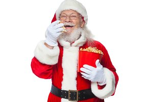 Christmas. Smiling, kind Santa Claus