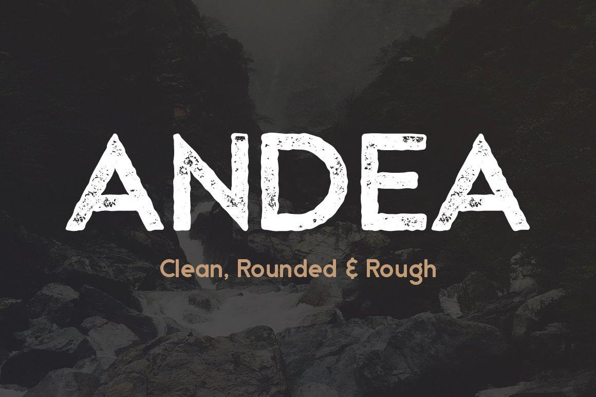 Andea   Geometric Sans Serif Font   Stunning Sans Serif ...