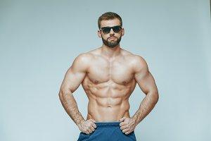 .bodybuilder posing. Beautiful
