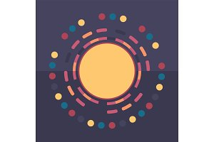 Technology colorful round background
