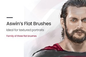 Flat Portrait Brushes for Procreate