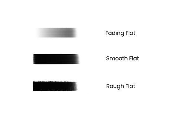 Flat Portrait Brushes for Procreate