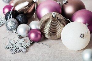 Christmas balls as preparation for