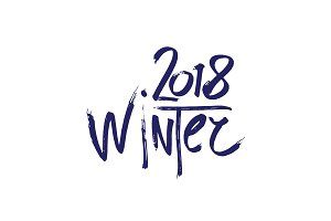 2018 Happy New Year winter or