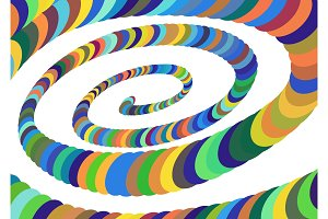 Colorful Abstract Spiral Converging