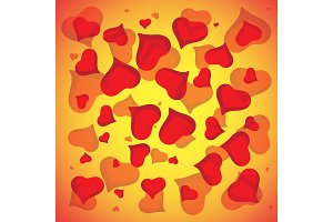 Abstract vector love background full